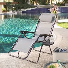 Zero Gravity Patio Chair by Coral Coast Zero Gravity Chair With Sunshade And Drink Tray