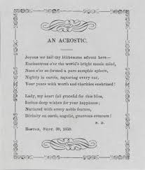 acrostic wikipedia