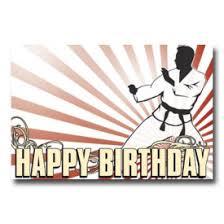 karate birthday postcard martial arts birthday cards karate