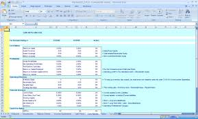Excel Template For Financial Analysis Financial Ratios With Excel Benchmark