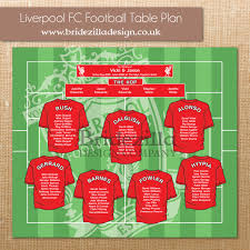 wedding invitations liverpool liverpool fc football wedding table plan matching table numbers