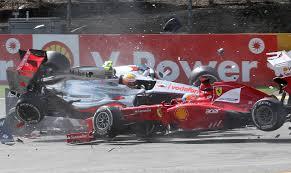formula 4 crash first lap crash spa francorchamps belgian grand prix 2012