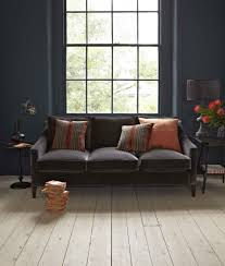 iggy three seat sofa in cotton matt velvet u0027elephant u0027 1 310 http
