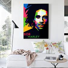chambre bob marley bob marley coloré chanteur toile peinture d impression d
