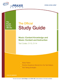 praxis ii music content knowledge ebook educational assessment