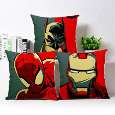superhero avengers supe cotton linen cushion cover cushions for