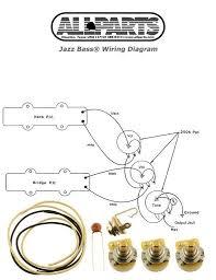new jazz bass pots wire wiring kit for fender jazz bass guitar