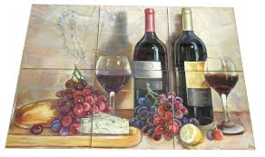 bread and wine tile mural our decorative tiles with wine are