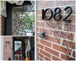 diy halloween front door decoration subtle spiderwebs merriment