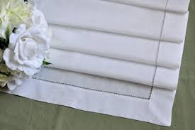 table runner hemstitched linen table runner 18 x72