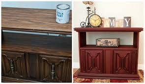 Wood Furniture Paint Painting The Town Red W Annie Sloan Chalk Paint Spray Painting