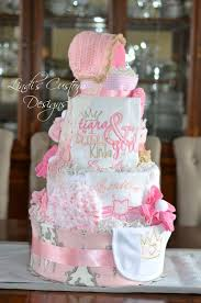 diper cake pink gold baby shower decor set with cakes and tutus