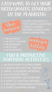 wedding plans ways to get your bridesmaids involved in the wedding planning