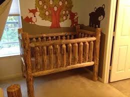 solid wood crib unfinished finishes on antique rustic baby