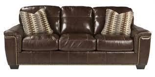signature design by ashley tivona coffee transitional sofa w