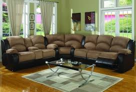 wonderful black leather reclining sectional sofa collection in