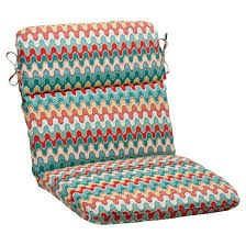 Outdoor Armchair Cushions Outdoor Rounded Chair Cushion Red Turquoise Chevron Target