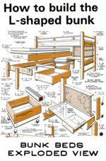 Bunk Beds With Desk Underneath Plans by Best 25 L Shaped Bunk Beds Ideas On Pinterest L Shaped Beds