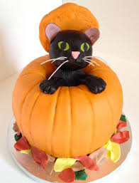 Halloween Pumpkin Cake Ideas Pumpkin Halloween Cake With Black Cat Cakecentral Com