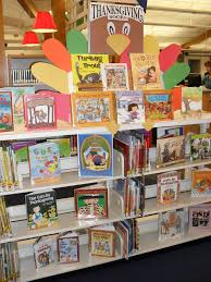 book display thanksgiving librarian vs storytime