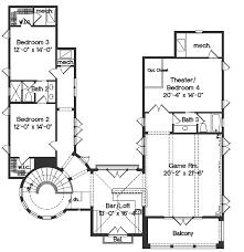 floor plan loft house mediterranean bedroom cottage orig cabin mediterranean style house plan 4 beds 3 50 baths 4923 sq ft plan