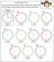 kindergarten clock worksheets worksheets