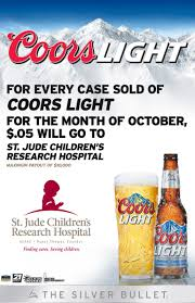 case of coors light millercoors to donate 05 per case of coors light sold in october