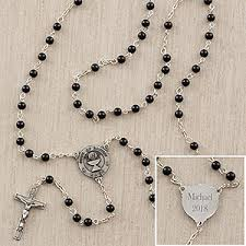 rosary for personalized communion rosary for boys onyx