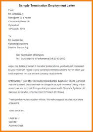 sample employee termination letter 8 free documents in