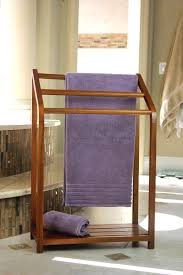 Free Standing Towel Stands For Bathrooms Versatile Free Standing Teak Towel Rack Lynnwoodplace Com