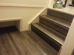 Putting Laminate Flooring On Stairs Drop U0026 Done Luxury Vinyl Plank In Eastern Township With Metal