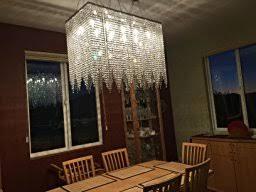 Light Modern  Contemporary Dining Room Chandelier Rectangular - Contemporary crystal dining room chandeliers