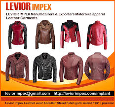 motorbike apparel motorbike jacket leather jacket levior impex pakistan pakistan