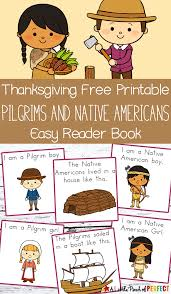 thanksgiving pictures to color and print free thanksgiving free printable easy reader book pilgrims and native