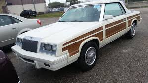 chrysler lebaron 1984 chrysler lebaron town u0026 country convertible woody k car youtube