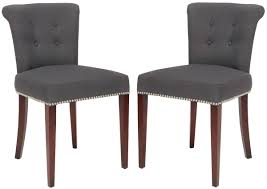 Brown Leather Dining Chairs With Nailheads Mcr4514a Set2 Dining Chairs Furniture By Safavieh