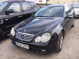 mercedes c180 kompressor petrol manual 2004 black 3 doors coupe