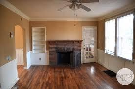 brick cottage after living room