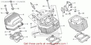 honda cb 50 honda cb50j germany cylinder head cylinder schematic partsfiche