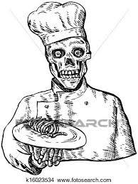 recherche chef de cuisine dessins squelette chef cuistot cuisinier k16023534 recherche