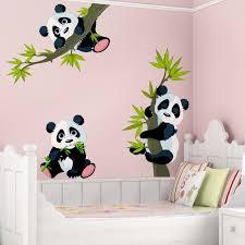 stickers panda chambre bébé sticker mural set ours panda dimension 33cm x 50cm 0 0 701502