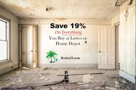 Home Depot Price Match Online by Save 19 On Everything You Buy At Lowes Or Home Depot Retire29