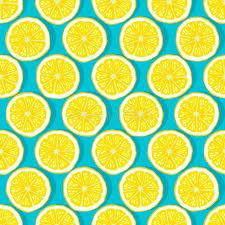 seamless lemon pattern lemon slices blue background seamless pattern stock vector