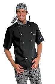 veste de cuisine noir veste de cuisine col fantaisie vêtements de cuisine été