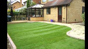 Patio Edging Stones by Decking Patio Turf And Brick Edging Laid Youtube
