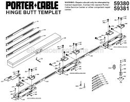porter cable door hinge template porter cable 59381 parts list and diagram ereplacementparts