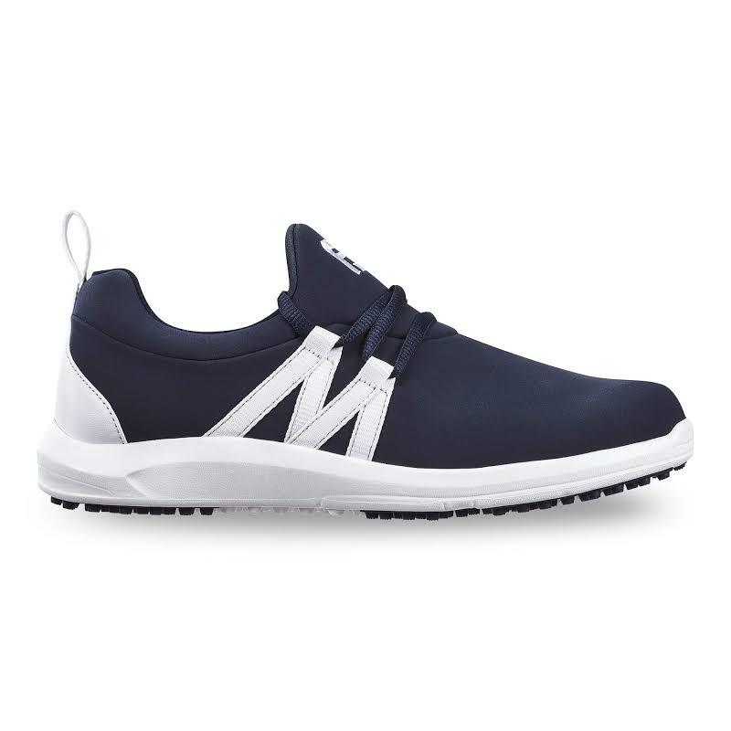FootJoy FJ Leisure Slip-On Golf Shoes Navy/White,