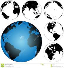 Earth Maps Globe Earth Maps Set Royalty Free Stock Photos Image 3028138