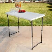 Adjustable Height Folding Table Lifetime 4 Ft Light Commercial Adjustable Height Fold In Half