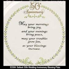 wedding blessings belleek blessing plate 50th wedding anniversary